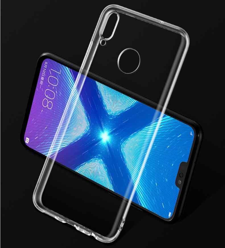 Mềm Silicone TPU Trường Hợp Đối Với Huawei Honor 8X 8C 8A Người Bạn Đời 20 Pro Lite Trong Suốt Bìa Trường Hợp Đối Với Huawei Y5 y6 Y7 Y8 Y9 2018 2019