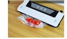 Купить с кэшбэком Wet-Dry Dual vacuum hot-sealing machine commercial kitchen plastic bag compressor small vacuum packing machine household single