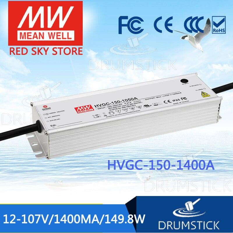 цена на Advantages MEAN WELL HVGC-150-1400A 12 ~ 107V 1400mA meanwell HVGC-150 149.8W LED Driver Power Supply A Type