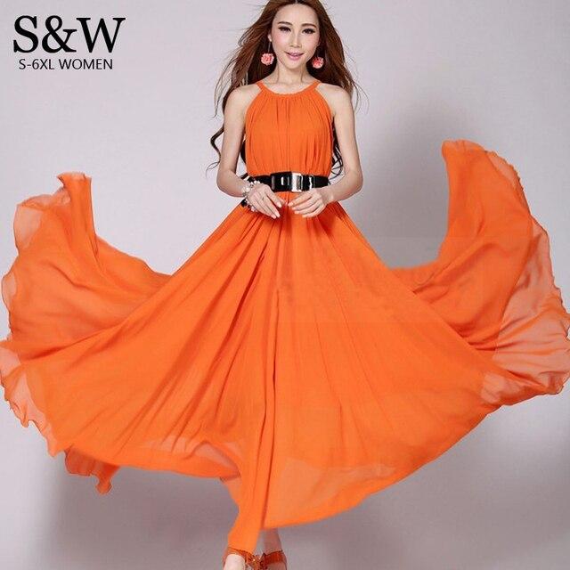 84906388ae2 Summer Style Women Plus Size 6XL Sexy Bohemia Chiffon Long Maxi Dress 5XL 4XL  XXXL Big Size Quality Summer Maxi Beach Dresses