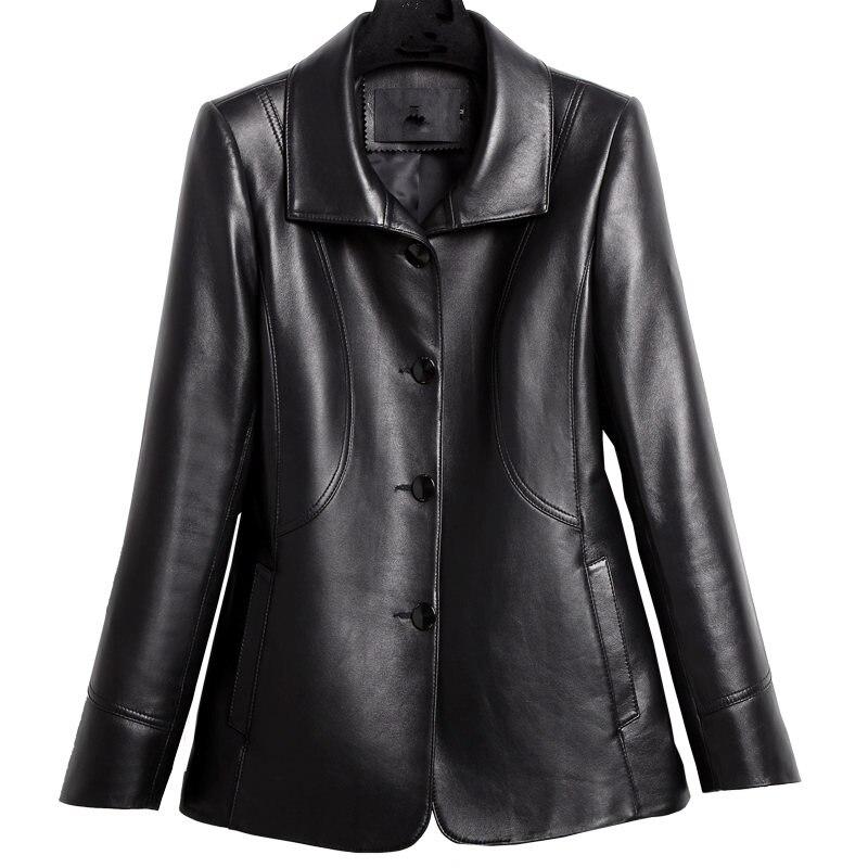 YOLANFAIRY из натуральной кожи куртка Для женщин из натуральной овечьей кожи пальто Демисезонный 2018 Одежда высшего качества плюс Размеры 8XL верх...