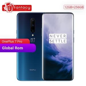 Image 1 - Original Global ROM Oneplus 7 Pro 12GB 256GB Smartphone Snapdragon 855 6.67 Inch 90Hz AMOLED Display Fingerprint 48MP Camera NFC