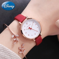 Minnie Mouse Beautiful Butterfly Cuties Luxury Disney Quartz Wristwatch Ladies Fashion Casual Leather Band Waterproof Time Gift