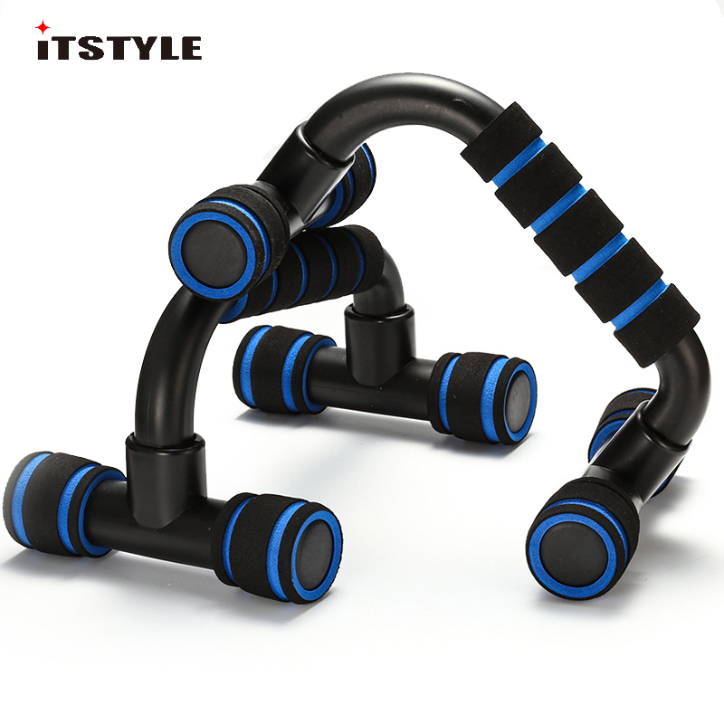ITSTYLE Fitness Push Up Bar Stands I-Type Handles Hand Sponge Grip Bars Gym Muscle Training  Pushup Chest Bar