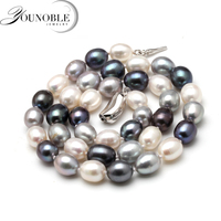 Freshwater Natural Pearl Necklace Women Fine Choker Necklace Jewelry Pearl 925 Sterling Silver Necklace Cultured Genuine