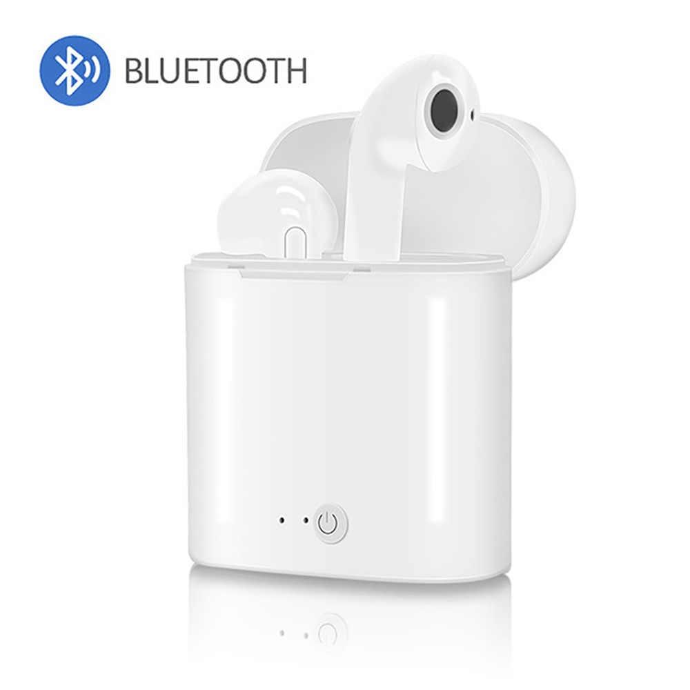 I7s TWS Sport zestaw słuchawkowy bluetooth z Wireless Stereo mikrofon bezprzewodowy zestaw słuchawkowy słuchawka do iPhone'a X inteligentny telefon Xiaomi Sunsun