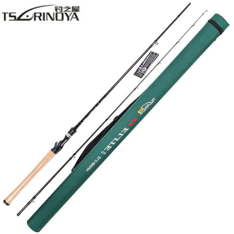 все цены на TSURINOYA 2.03m Casting Fishing Rod 2Section MH Power Carbon Lure Rod FUJI Reel Seat 3A Cork Handle Canne A Peche Fishing Tackle онлайн