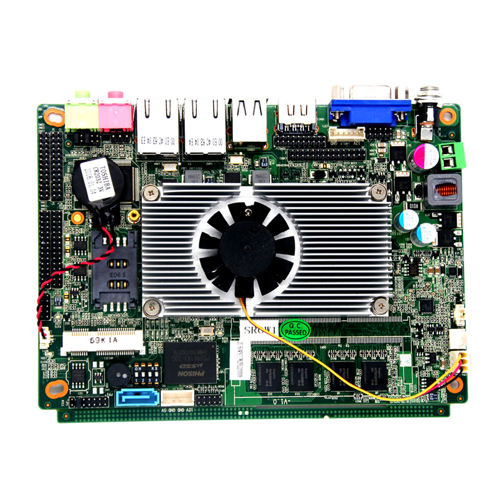 9v-36v  D2550 CPU Fan  Embedded Motherboard Single Board Computers with Intel Atom processor vactra industrial motherboard rocky 058hv 3 0 with cpu memory fan