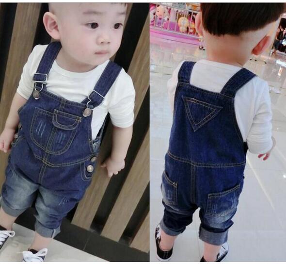 Verão 2017 meninos da criança do bebê do inverno macacão jeans infantil calças quentes denim crianças suspensórios calças macacão macacão