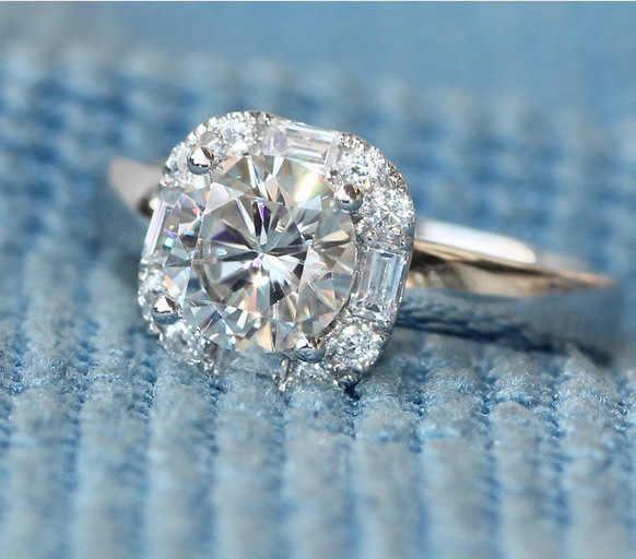 Nouvelle mode grand 5A CZ Zircon pierre 925 en argent Sterling bagues de fiançailles de mariage pour les femmes meilleur cadeau bijoux de mode