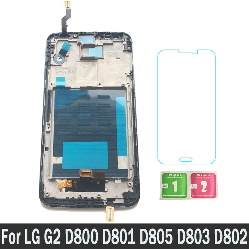 100% Tested New Replacement Parts LCDs Display For LG G2 D800 D801 D805 D803 D802 With Frame LCD Touch Screen Digitizer Assembly100% Tested New Replacement Parts LCDs Display For LG G2 D800 D801 D805 D803 D802 With Frame LCD Touch Screen Digitizer Assembly