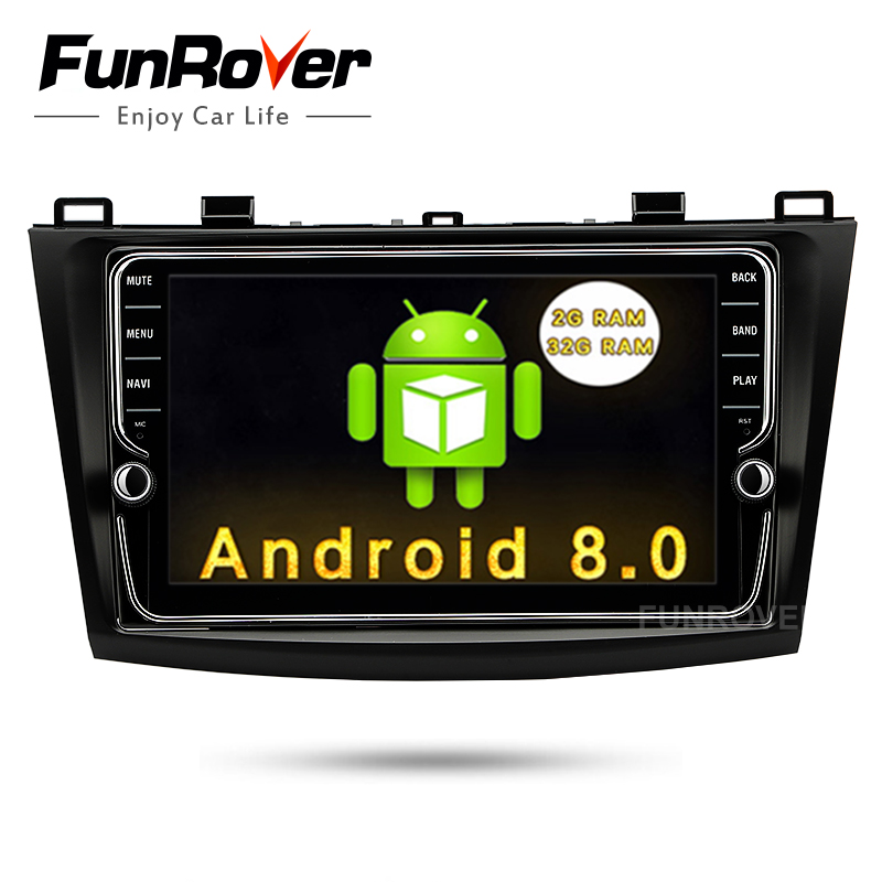 Funrover 2 Din 8 IPS Android 8.0 Car DVD For Mazda3 Axela 2009-2012 Car Multimedia gps navigation Radio RDS Mirror-link wifi BT funrover ips 8 2 din android 8 0 car dvd player for kia sportage 2016 2017 kx5 gps navigation car stereo headunit wifi bt navi