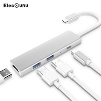External USB 3.0 Hub Type C Adapter to 4K Output HDMI Converter For Charging/Data Transmission For TV/New MacBook Pro/Projector
