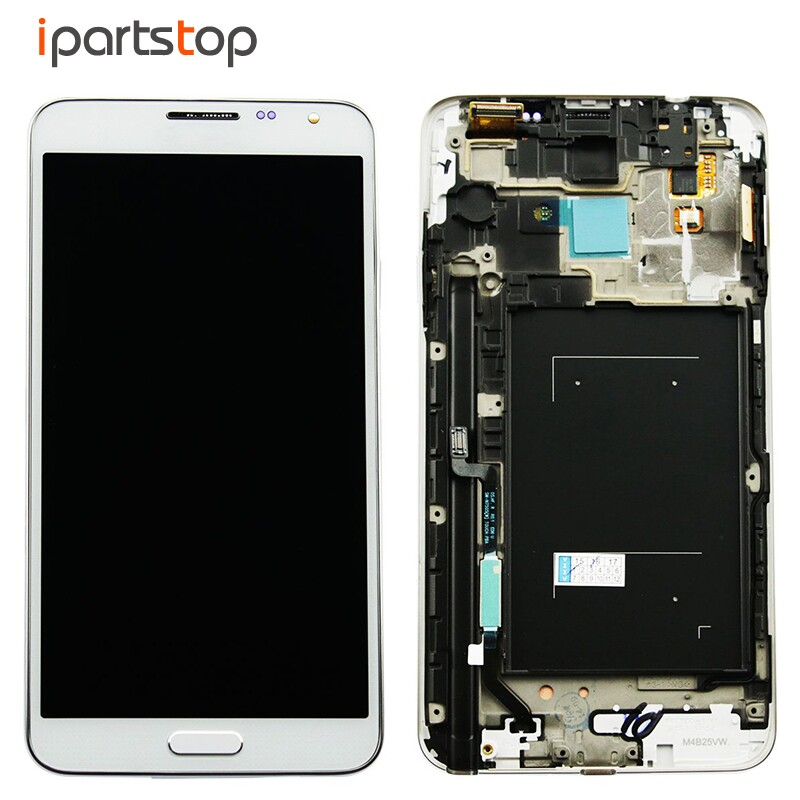 iPartsTop OEM Black White Display For Samsung Note 3 Mini Neo N750 N7505 LCD Screen Touch Digitizer With Front Frame Assembly