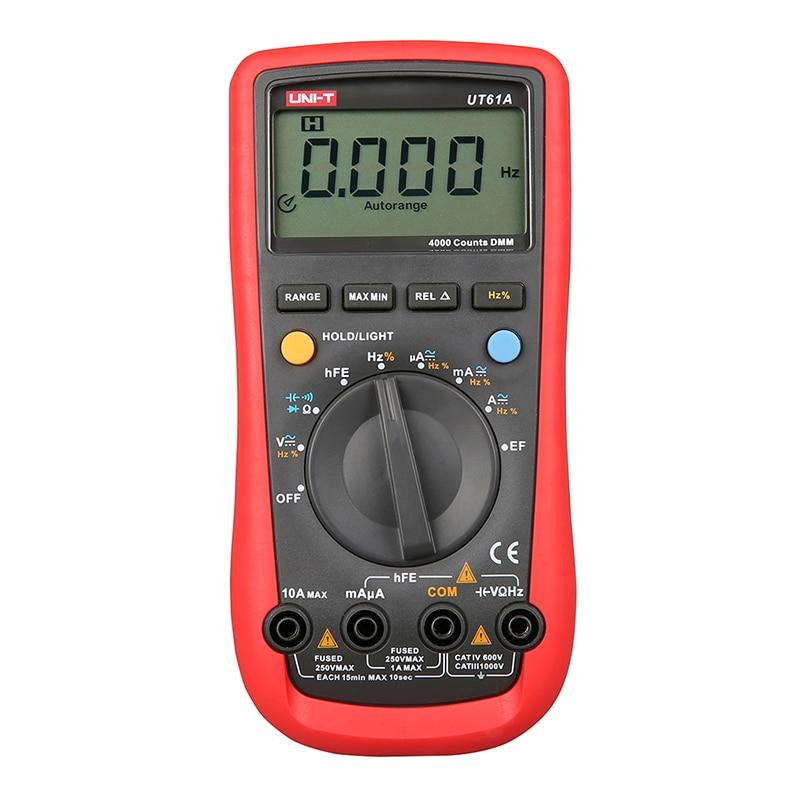 ФОТО UNI-T UT61A Handheld Multimeter Ammeter Ohm Volt Meter Digital Universal Meter LCD Count 3999 AVO Meter High Precision