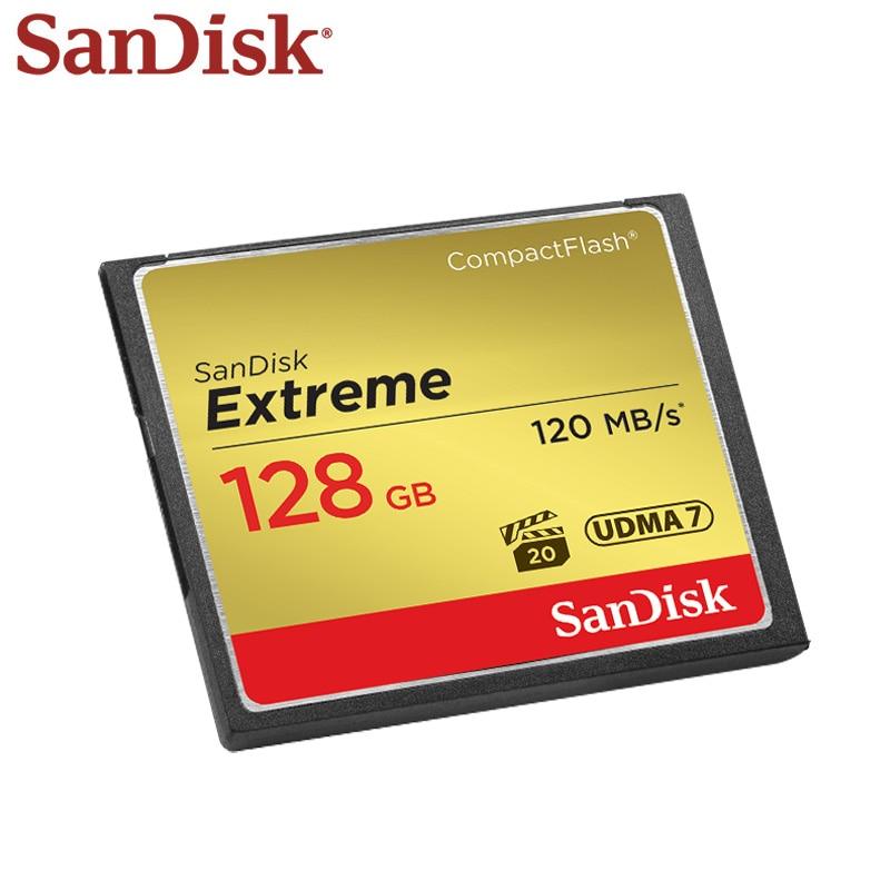Scheda di Memoria SanDisk Extreme CompactFlash 16 gb 32 gb 64 gb 128 gb Scheda CF Ad Alta Velocità 120 mb/s per 4 k e Video Full HD Più Nuovo