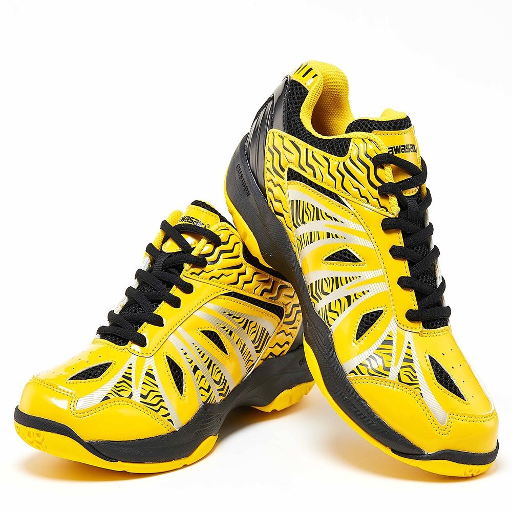 Zapatillas Deportivas/Обувь для бадминтона для мужчин и женщин, желтая спортивная обувь, дышащие кроссовки для помещений, K-076, 2019