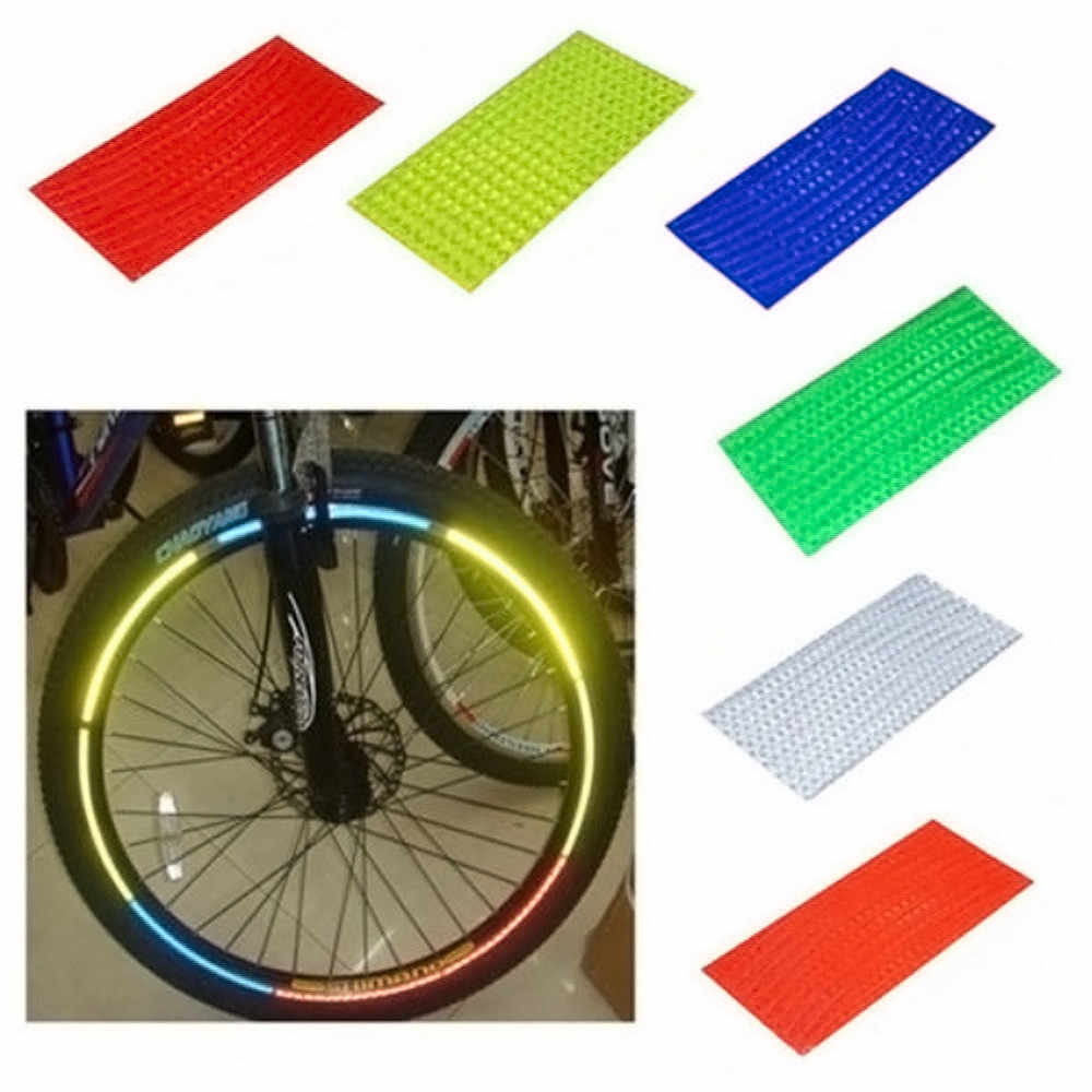 Zacro 5cmx3m Reflective Bicycle Stickers Adhesive Tape for Bike Safety White Red Yellow Blue Bike Stickers Bicycle Accessories