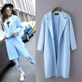 XJ150939   New Fashion Ladies Elegant Coats Spring Solid Long Covered Button Trench Coat for Female Trench Plus size