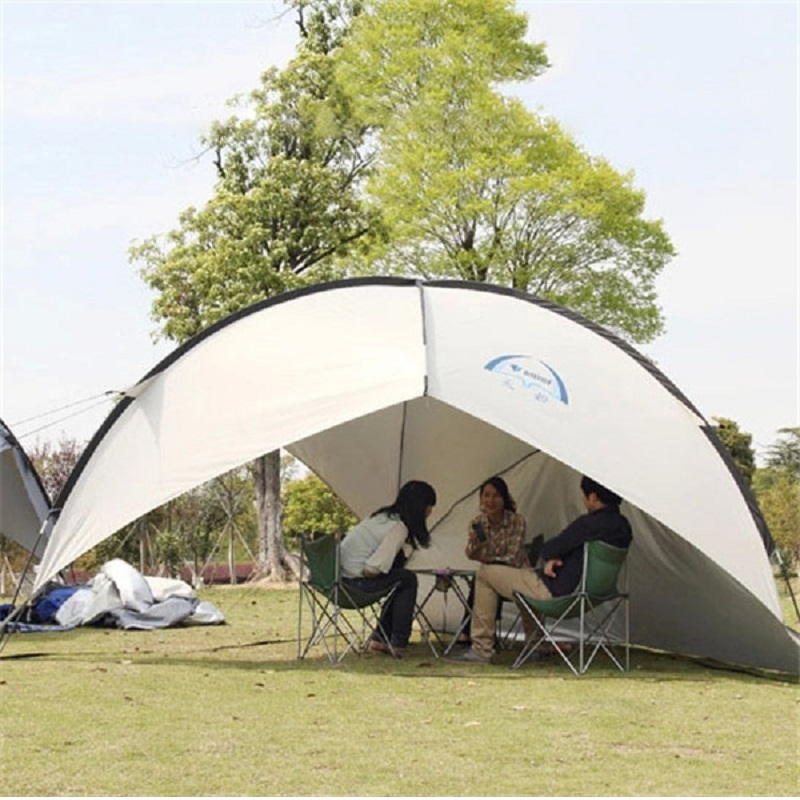 UV Protect Gazebo Tent Large Beach Tent Waterproof Camping Tent Beach Umbrella Awning BBQ Sun Shelter