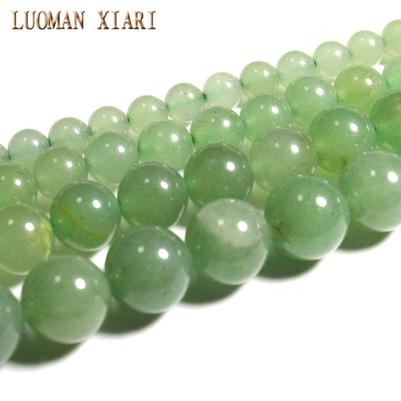 Fine AAA 100% Natural Green Aventurine Round Stone Beads For Jewelry Making DIY Bracelet Necklace 4/ 6/8/10 /12 Mm Strand 15'
