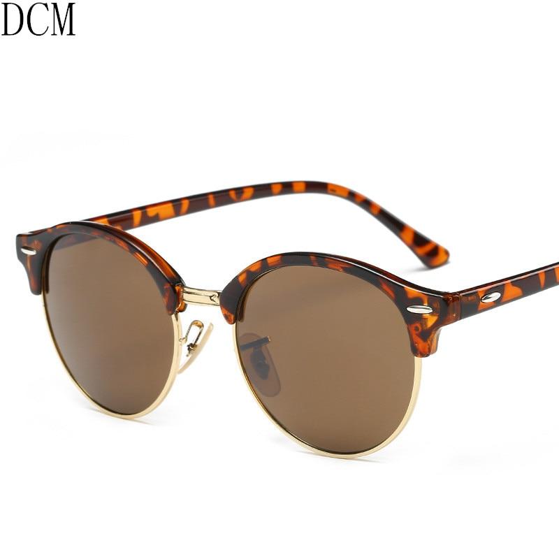 New Italy Brand Designer Vintage Round Sunglasses Women Metal T Rivet Oversized Retro Sun Glasses Men Gradient Lunette Femme Women's Sunglasses Women's Glasses