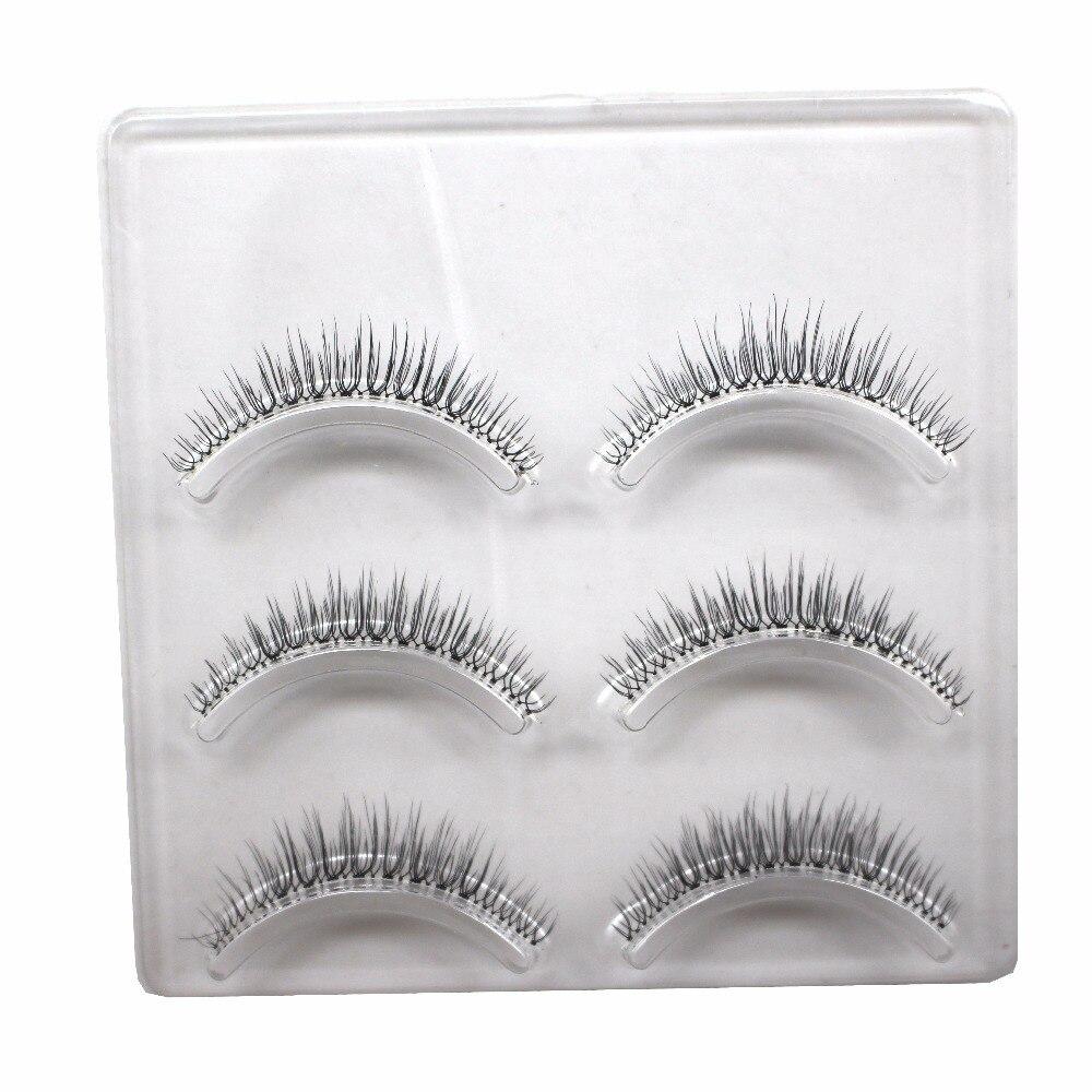 30 Pairs/Lot Black Natural Long Handmade Individual False Eyelashes Thick Fake Eye Lashes Extensions Makeup Tool 1.3-1.5MM M12 цена 2016