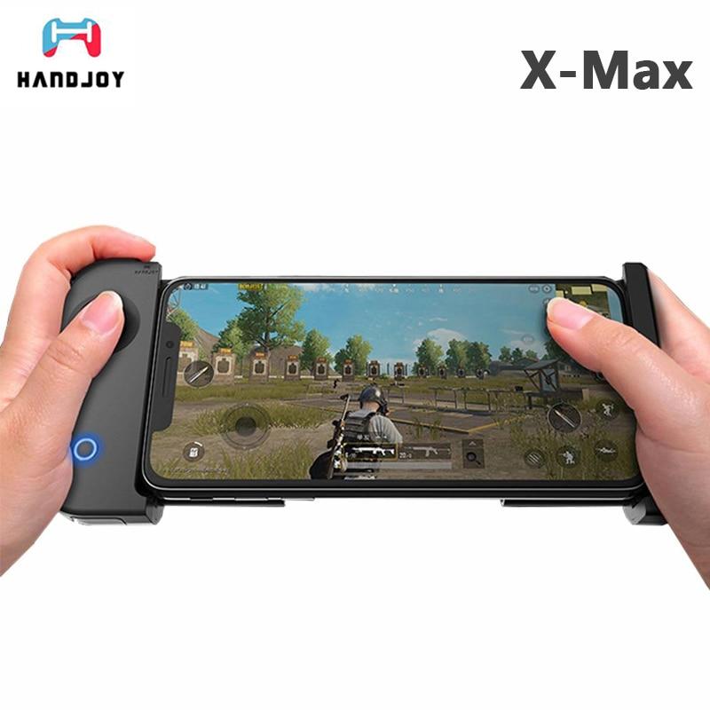 все цены на New HandJoy X-MAX Gamepad Wireless Bluetooth 4.0 Singe-hand with Telescopic Phone for Android/ iOS Smartphone Game Controller онлайн