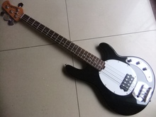 Free Shipping New 4 string Music-man electric bass guitar In black 110315