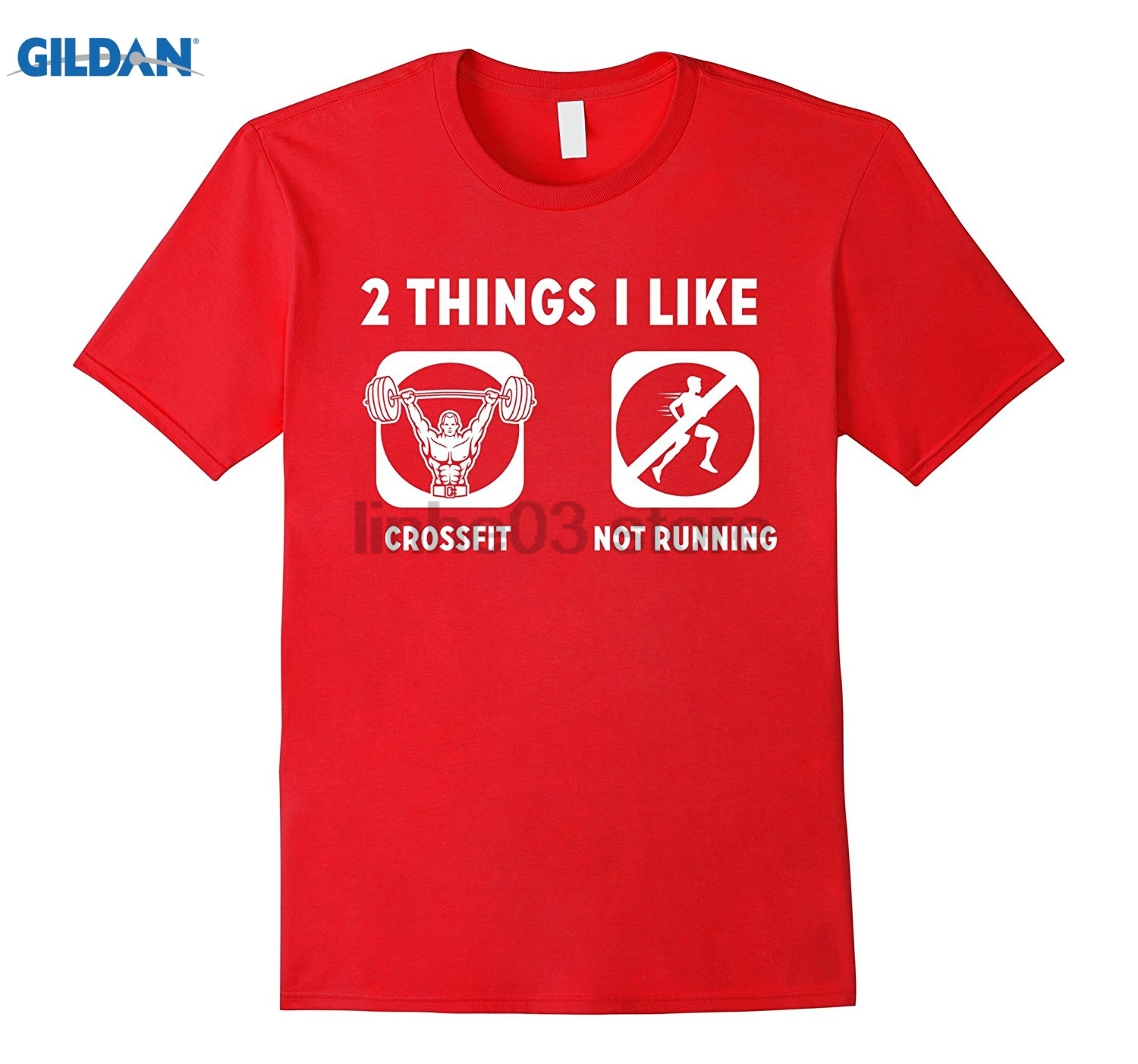 GILDAN 2 Things I Like Cross Fit Not Funny Fitness TShirt Hot Womens T-shirt Dress female T-shirt