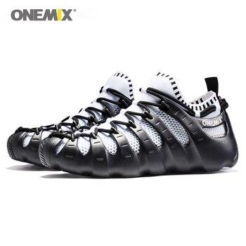 ONEMIX sandały dla mężczyzn i kobiet gladiatora zestaw buty buty do biegania buty do biegania buty do chodzenia skarpety-jak sandały pantofel