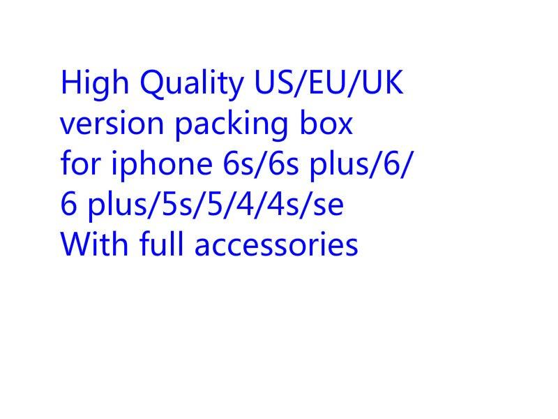 10sets/lot High Quality US/EU/UK Version Phone Packaging