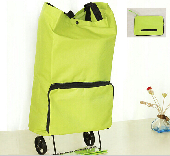 Travel Portable folding shopping cart portable shopping Cheap Big Capacity foldable trolley bag with wheel folding shopping bag