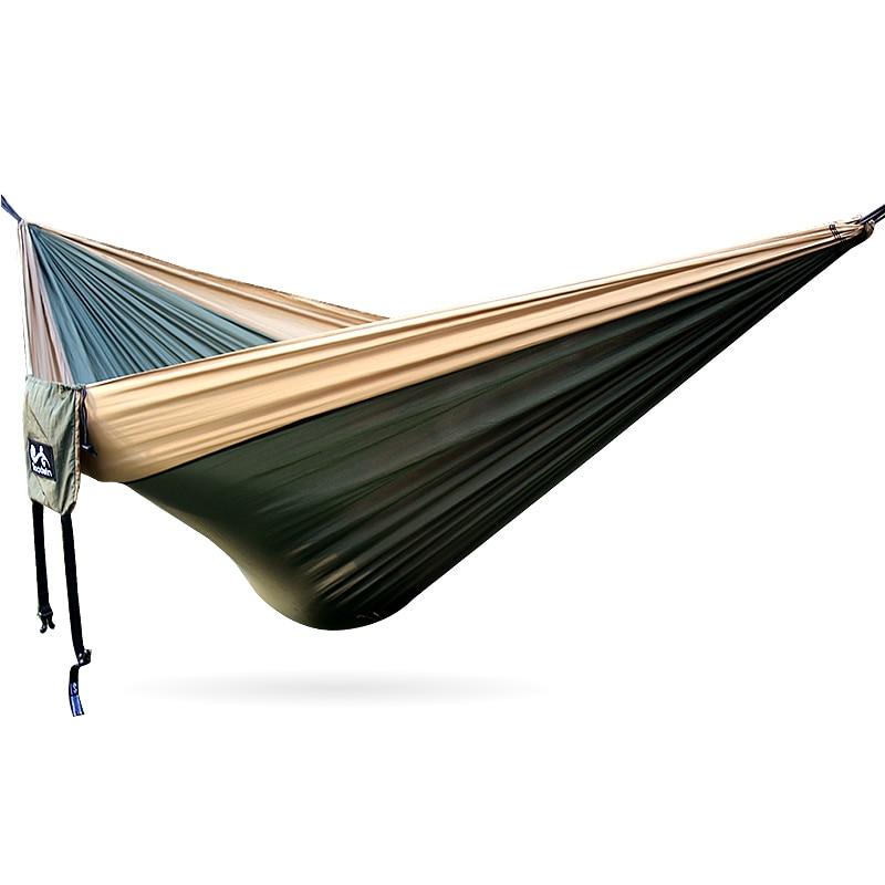 Outdoor Parachute Fabric Hammock Outdoor Hamak Portable Hammock Strength Parachute Fabric 320cm