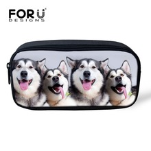 Fashion Women Girls Make Up Bag Cute Pet Dog Printing Cosmetic Case Portable Girls Makeup Bag Kids Pencil Bag School Supplies