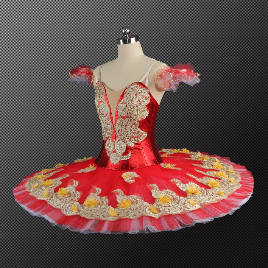 Adult Red Professional Tutu Pancake Classical Performance Stage Competition Nutcracker Ballet Tutus Ballet Stage Costumes in Ballet from Novelty Special Use