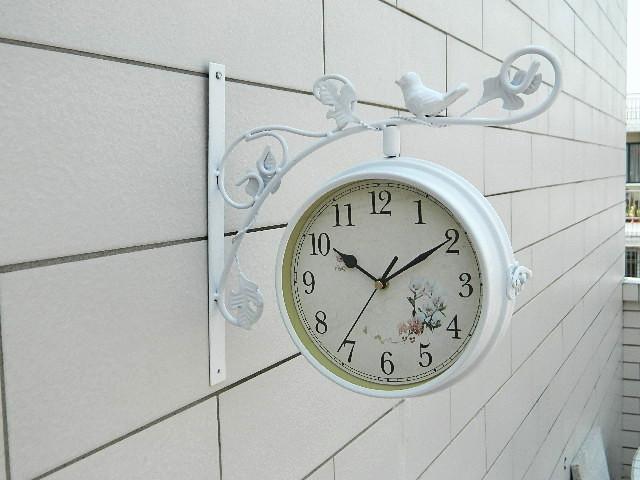 Badkamer Klok Waterdicht : Home decor dubbelzijdig wandklok smeedijzeren horloge digitale