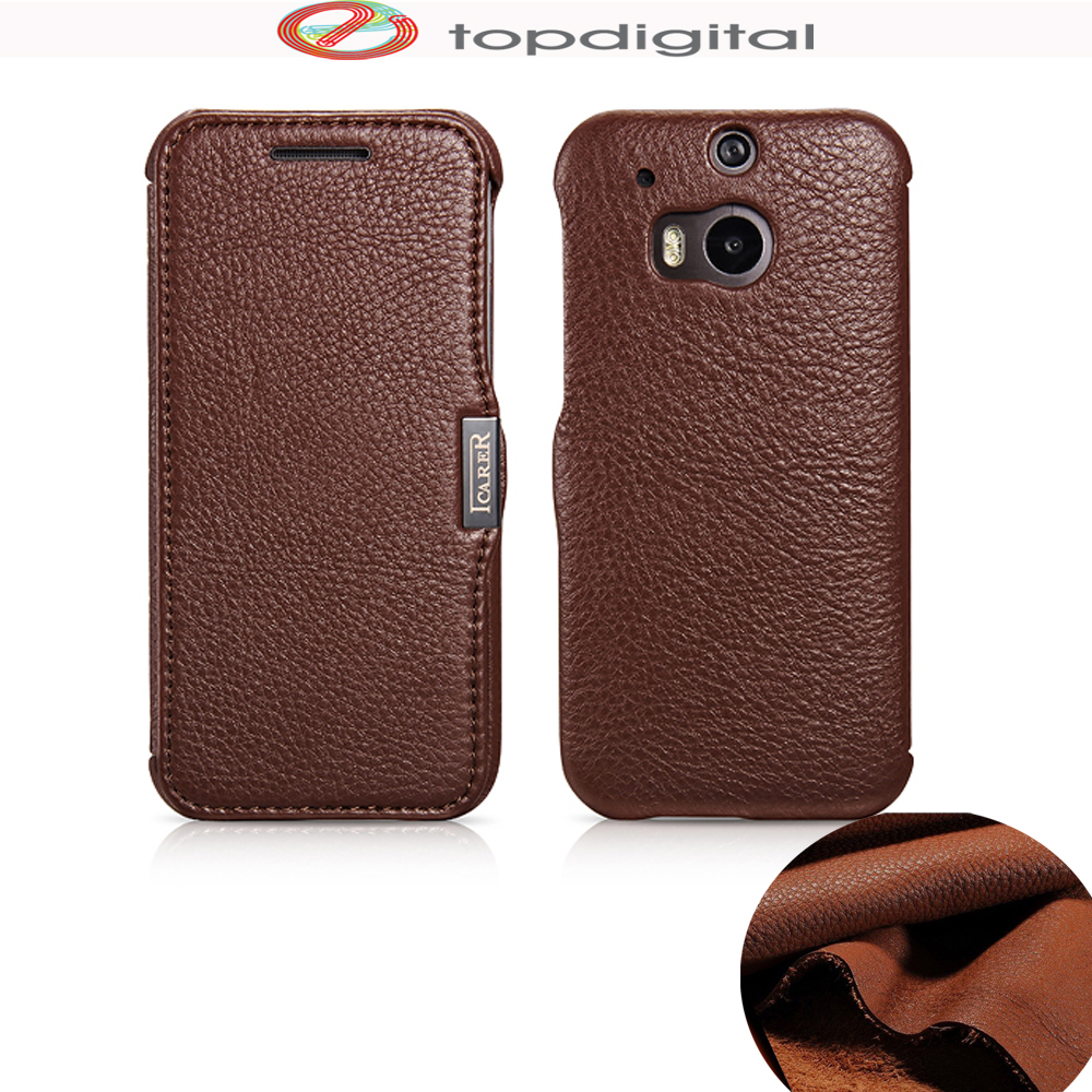 icarer Genuine Leather Case for HTC M8 Cover Phone Cases ...