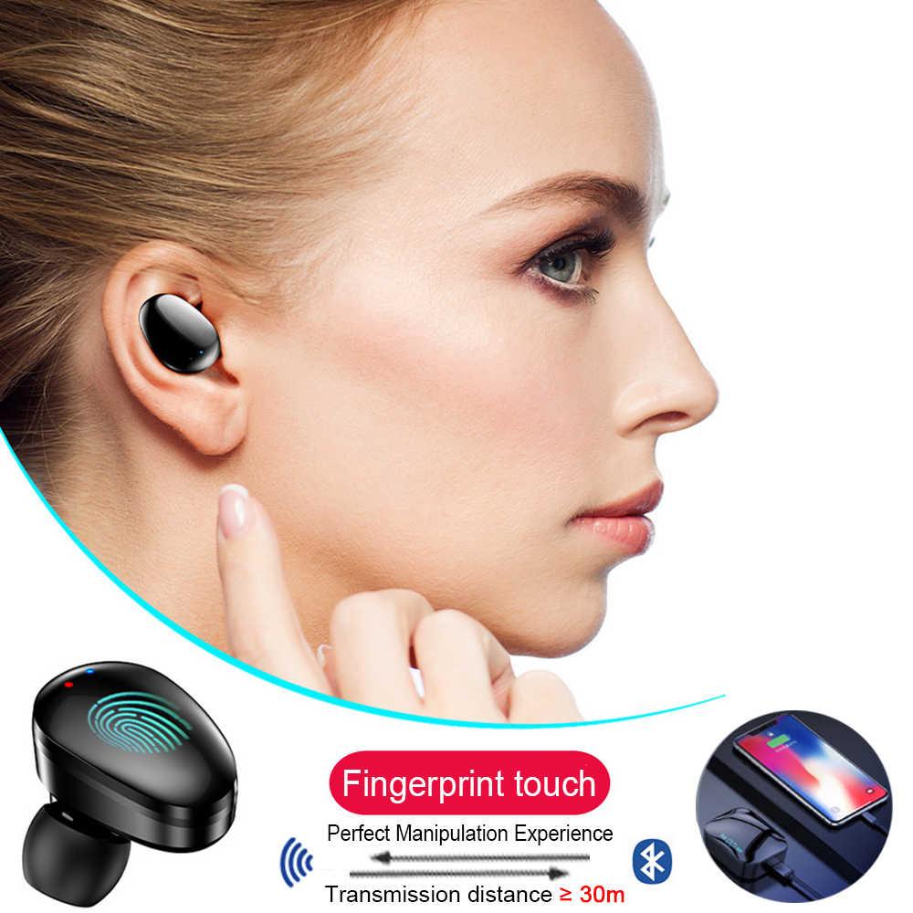 Qcr TWS 5.0 Tai Nghe Bluetooth Chụp Tai IP7 Tai Nghe Không Dây 6D Stereo Hifi Không Dây Earbus Tai Nghe Có Micro 2200 MAh