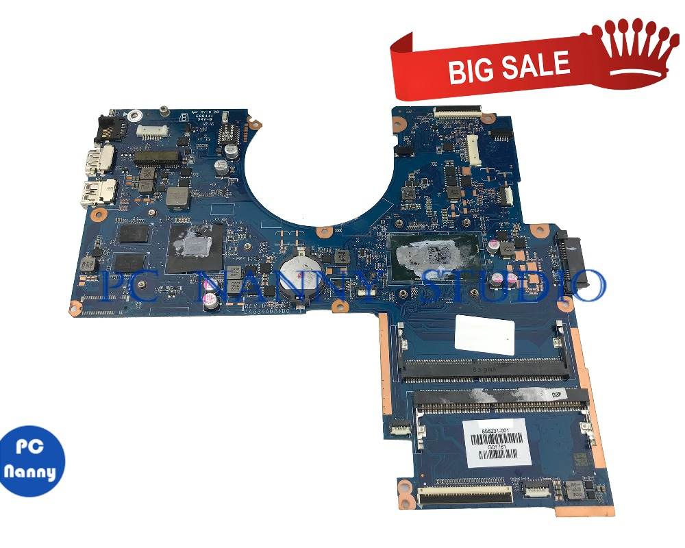 PCNANNY FOR HP Pavilion 15-AU laptop motherboard DAG34AMB6D0 856231-001 I5-6200U SR2EY <font><b>GeForce</b></font> <font><b>940M</b></font> tested image