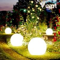 Mejor Colores cambiar control remoto impermeable LED bola luz para piscina o jardín 40 cm VC B400