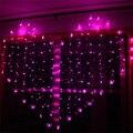 En Forma de Corazón romántico 2 M x 1.4 M Amor LED Cadena de Luz Blanca Cálida/Púrpura/Rosa de Navidad LED Luces de hadas para la Fiesta/Ventana/de La Boda