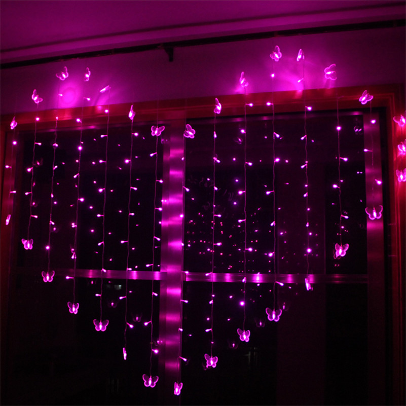 White String Christmas Lights Led :  Romantic Heart Shape 2M x1.4M ? Love Love LED String Light ? Warm Warm White/Purple/Pink ...