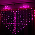Romantic Heart Shape 2M x1.4M Love LED String Light Warm White/Purple/Pink Christmas LED Fairy Lights for Party/Window/Wedding