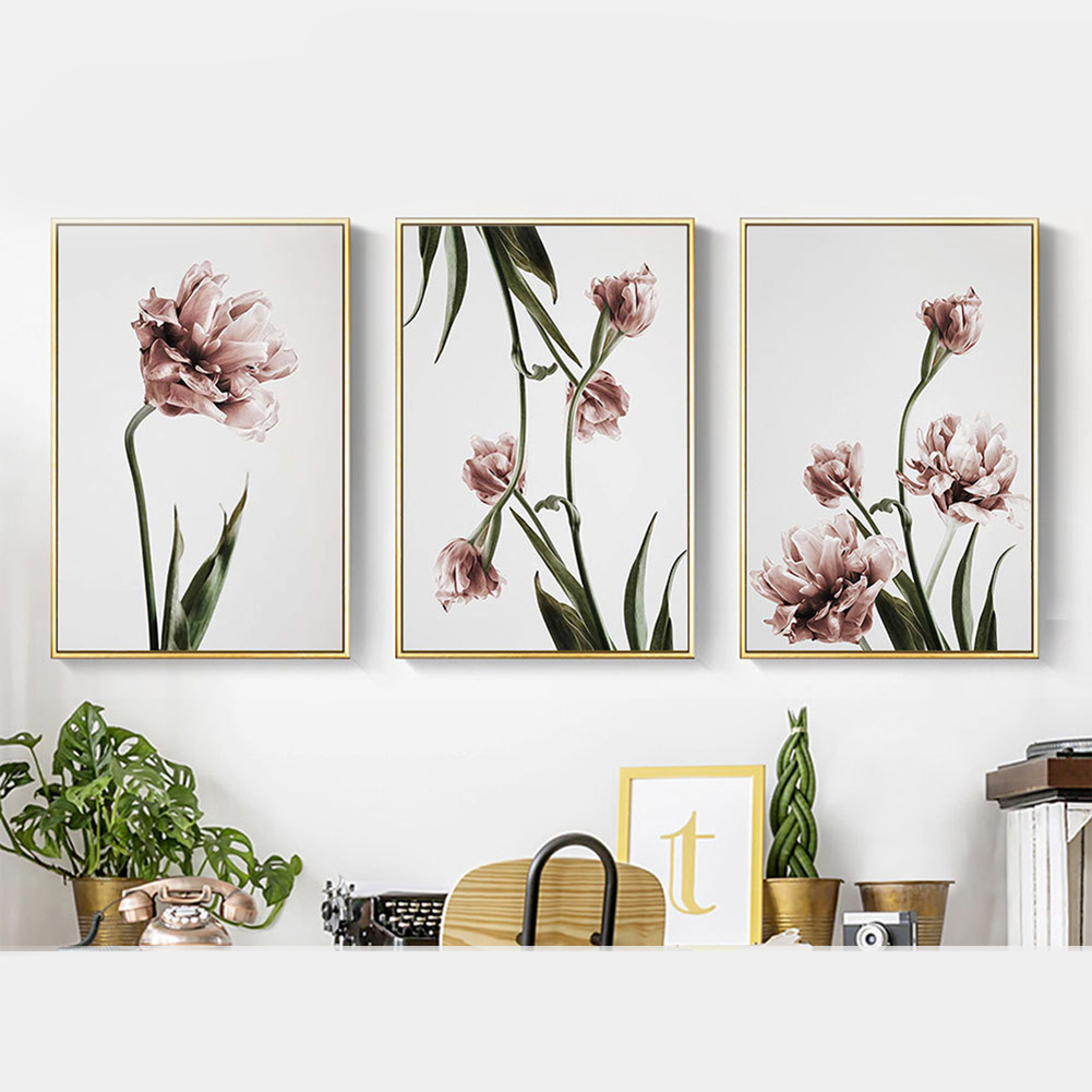 Romantic Nordic Flowers Poster, Romantic Flowers, Canvas Painting, Wall Art, Wall Art  for Living Room, Nordic Wall Art,