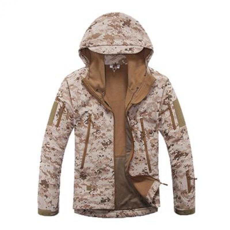 Zuoxiangru Lurker Shark Skin Softshell V5 Military Tactical Jacket Men Waterproof Coat Camouflage Hooded Army Camo Clothing