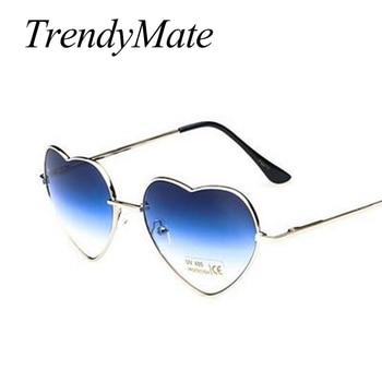 Love Shape Heart Sunglasses Women Brand Design Retro Alloy Frame Sun Glasses Vintage Mirror Sunglass Oculos De Sol Feminino M564 5