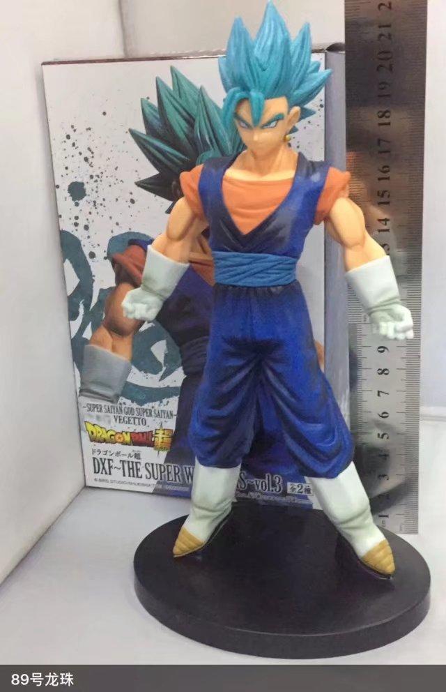 Huong Anime 22CM Dragon Ball Z Super Saiyan God SS Vegetto Blue Hair PVC Action Figure Collectible Model Toy