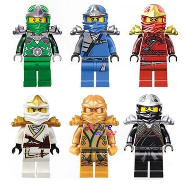 Único Lloyd Cole Jay Kai Zane de super-heróis de Ouro modelo de blocos de construção tijolos brinquedos para as crianças brinquedos menino