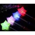 Creativo LED Glow Varita Estrella Mixta Rose En Forma de Corazón Palo Resplandeciente Conciertos Juguete Fuentes Del Partido